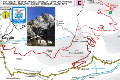 14. Fontanelle - Starezza - Bivacco Spagnolli. Percorso alternativo Laggio - Zergolon - Ciadin Alto
